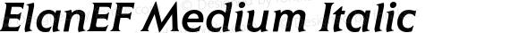 ElanEF Medium Italic 001.000