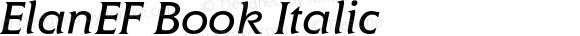 ElanEF Book Italic 001.000