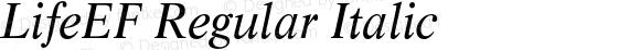 LifeEF Regular Italic