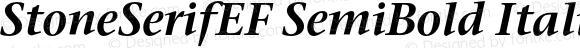 StoneSerifEF SemiBold Italic 001.000