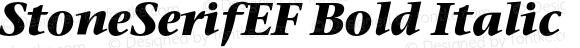 StoneSerifEF Bold Italic 001.000