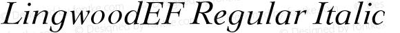 LingwoodEF Regular Italic