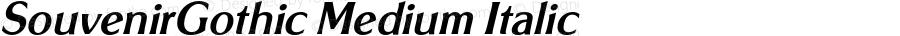 SouvenirGothic Medium Italic 4.0