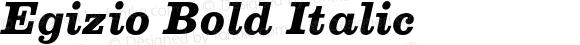 Egizio Bold Italic 4.0