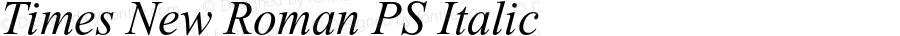 Times New Roman PS Italic 001.001