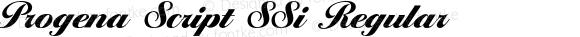 Progena Script SSi Regular Altsys Fontographer 3.5 8 31 92
