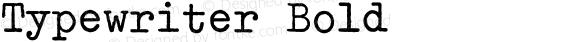 Typewriter Bold 001.000