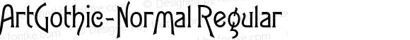 ArtGothic-Normal Regular 4.0
