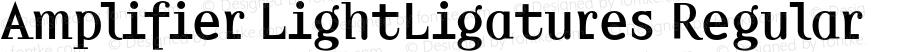 Amplifier LightLigatures Regular 001.000