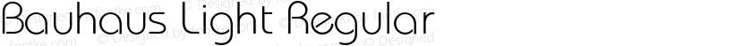 Bauhaus Light Regular Preview Image