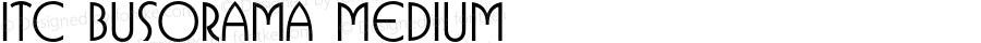 ITC Busorama Medium 2.0-1.0