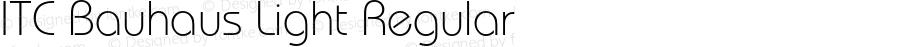 ITC Bauhaus Light Regular 2.0-1.0
