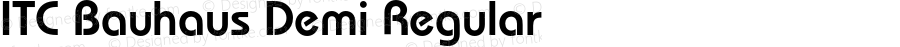 ITC Bauhaus Demi Regular 2.0-1.0
