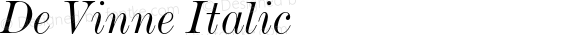 De Vinne Italic 2.0-1.0