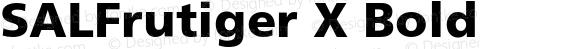 SALFrutiger X Bold 001.000