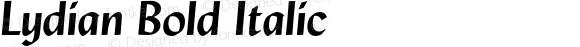 Lydian Bold Italic 2.0-1.0