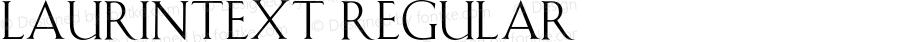 LaurinText Regular 001.001