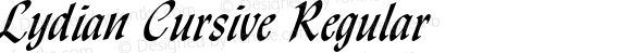 Lydian Cursive Regular 2.0-1.0