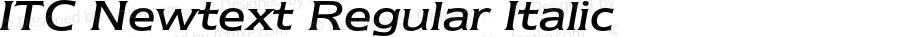 ITC Newtext Regular Italic 2.0-1.0