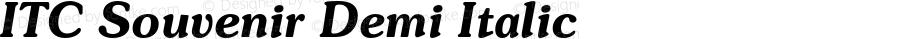 ITC Souvenir Demi Italic 2.0-1.0