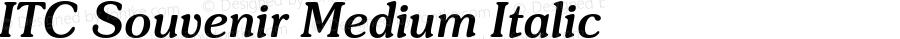 ITC Souvenir Medium Italic 2.0-1.0