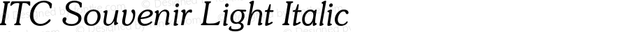 ITC Souvenir Light Italic 2.0-1.0