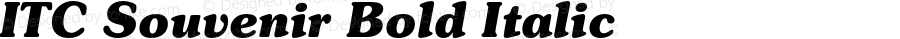 ITC Souvenir Bold Italic 2.0-1.0