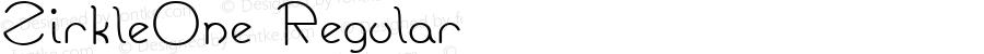 ZirkleOne Regular Altsys Fontographer 3.5  9/20/92