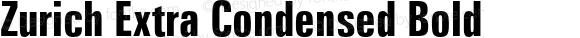 Zurich Extra Condensed Bold 2.0-1.0