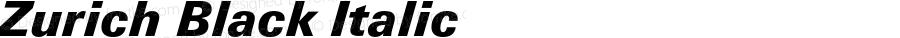Zurich Black Italic 2.0-1.0