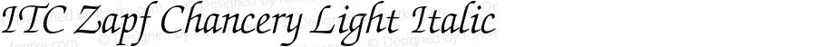 ITC Zapf Chancery Light Italic 2.0-1.0