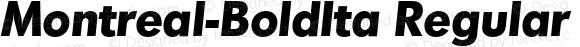 Montreal-BoldIta Regular 001.001