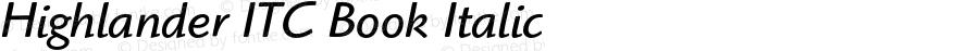 Highlander ITC Book Italic 001.005