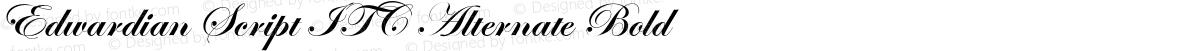 Edwardian Script ITC Alternate Bold