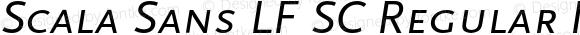 Scala Sans LF SC Regular Italic