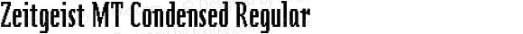 Zeitgeist MT Condensed Regular 001.003