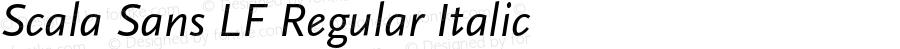 Scala Sans LF Regular Italic 001.000