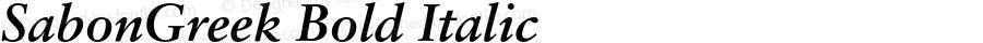 SabonGreek Bold Italic 001.001