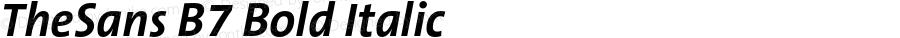 TheSans B7 Bold Italic 001.000