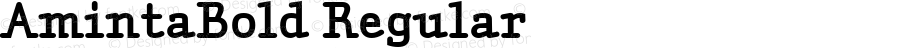AmintaBold Regular Macromedia Fontographer 4.1.5 04/06/2002