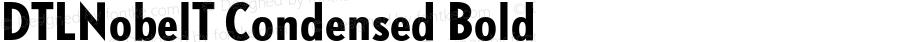 DTLNobelT Condensed Bold 001.000