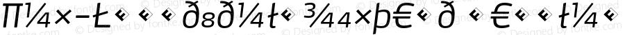 Max-LightItalicExpert Regular 4.460