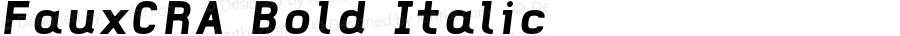 FauxCRA Bold Italic 001.000