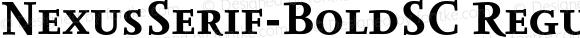 NexusSerif-BoldSC Regular 4.460