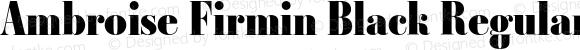 Ambroise Firmin Black Regular 001.000
