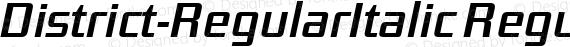 District-RegularItalic Regular preview image