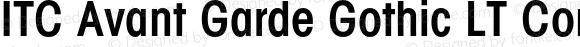 ITC Avant Garde Gothic LT Conde Regular 006.000