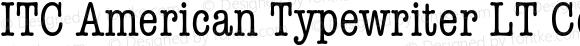 ITC American Typewriter LT Cond Regular 006.000