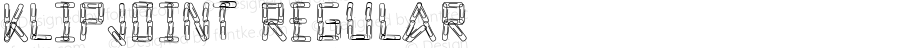 KlipJoint Regular Macromedia Fontographer 4.1.3 7/11/96