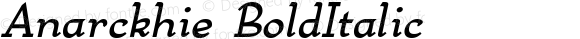 Anarckhie BoldItalic Macromedia Fontographer 4.1.3 7/17/96